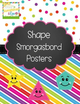 Shape Smorgasbord Posters - 13 Shapes Included!