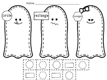 Shape Sorting - Ghost Themed