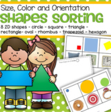 Shapes Sorting by Size, Color and Orientation