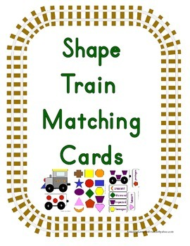 Shape Train Matching Cards