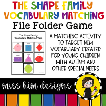 Shape Vocabulary Folder Game for students with Autism