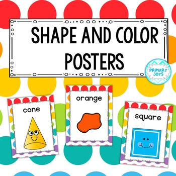 Shape and Color Posters