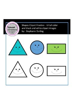 Shape clipart FREEBIE color and black/white images comeric
