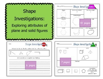 Shape investigations: exploring attributes of plane and so