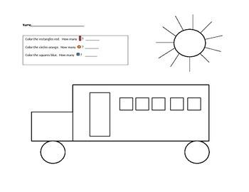 Shape picture - bus