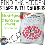 Shape recognition with daubers (Find the hidden picture fo