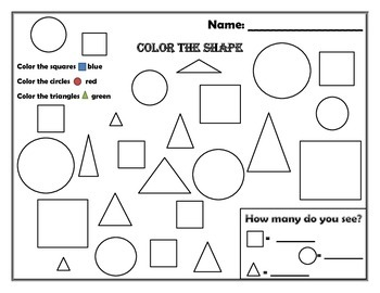 Shape (square, circle, triangle) recognition & counting