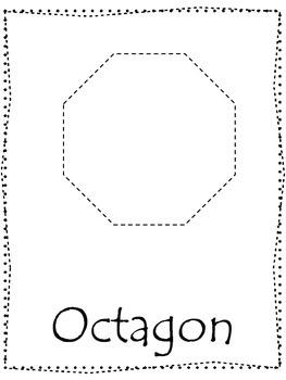 Shape tracing.  Trace the Octagon Shape.  Preschool printa