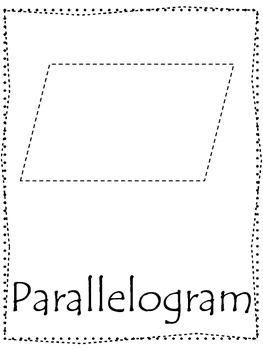 Shape tracing.  Trace the Parallelogram Shape.  Preschool