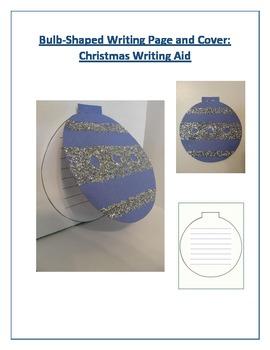 Shaped Writing Page and Cover (Christmas Bulb): Christmas