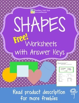 Free Shapes Worksheet with Answer Key