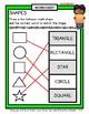 Shapes - 2D Shapes - Match Shape to Shape Word - Grades 1-