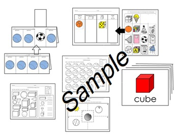 Shapes 3 Dimensional  English only activities pack #1 csco