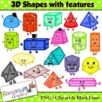Shapes 3D Clip art