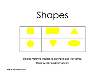 Shapes (Autism, Matching, Special Needs, Early Years)