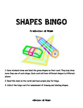 Shapes Bingo Game & Assessment
