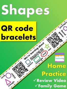 Kindergarten Shapes Homework {Bracelet with review video &