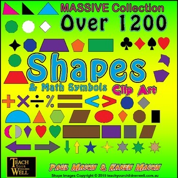 Shapes Clip Art - OVER 1200 PNG Graphics (MASSIVE Collection)