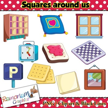 Shapes 2D squares Clip art