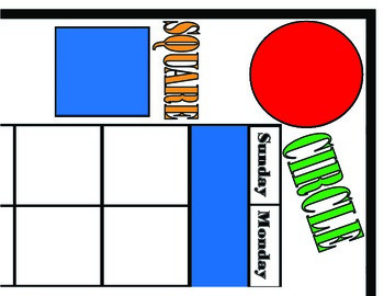 Shapes Calendar! Shapes and Colors Calendar! Shapes and Co