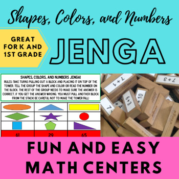 Shapes, Colors, and Numbers Jenga!
