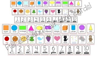 Shapes, Colors,and Numbers...Oh My!