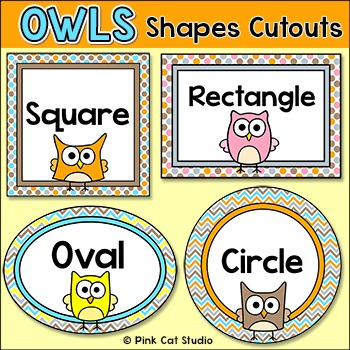 Shapes Cutouts- Owl Theme