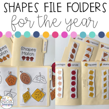 Shapes File Folder Activities for the YEAR for Special Education