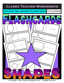 Shapes Flashcards - Colour the Flashcards - Kindergarten t