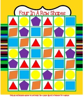Shapes Four In A Row Game