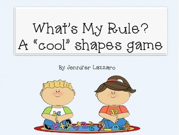 "Shapes Game ""What's My Rule?"""