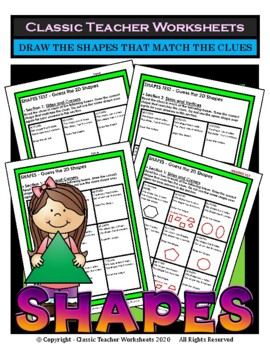 Guess the 2D Shapes - Draw Shapes that Match Clues - Grade