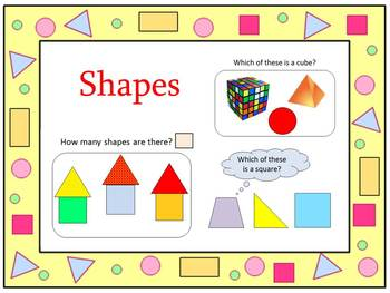 Shapes - circles - squares - triangles - rectangles - cube