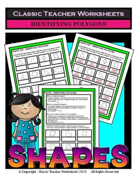 Shapes - Identifying Polygons - Grades 3-6 (3rd-6th Grade)