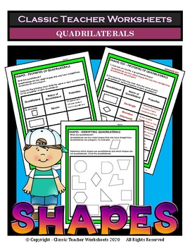 Shapes - Identifying & Properties of Quadrilaterals - Grad
