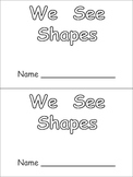 Shapes Kindergarten Emergent Reader- 2-d shapes and color words