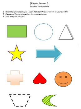 Shapes Lesson B Technology Lesson Plan & Materials
