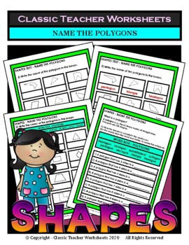 Shapes - Name the Polygons - Grades 3-6 (3rd-6th Grade)