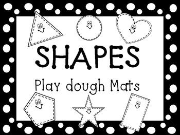 Shapes Play Dough Mats