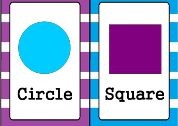 Shapes Posters- Blue & Purple