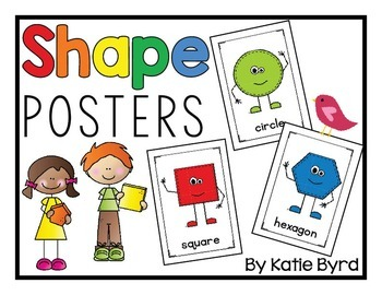Shapes Posters for Bulletin Boards and Classroom Decor