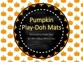 Shapes Pumpkin Play-Doh Mats Geometry