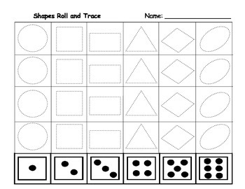 Shapes Roll and Trace