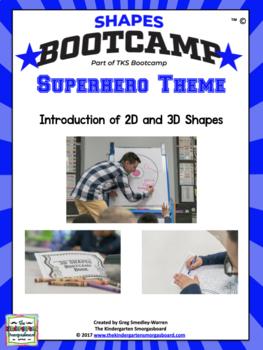Shapes!  Shapes Bootcamp Superhero Theme!  A 2d And 3D Sha