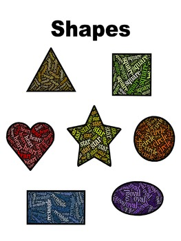 Shapes - Word Clouds