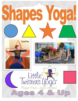 "Kids ""Shapes"" Yoga! Geometry with Movement! (Plus Printabl"
