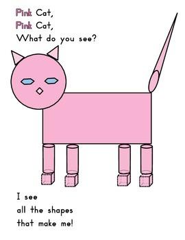 Shapes amendment Pink Cat
