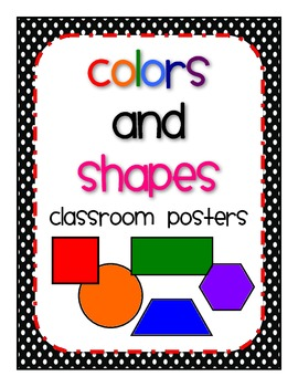 Shapes and Colors Classroom Posters {Polka Dot}