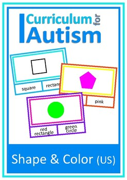Shapes and Colors Clip Cards, Autism Special Education, ABA