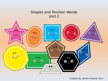 Shapes and Position Words (Math Unit 2 and Unit 8)